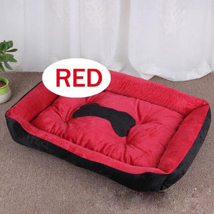 Open image in slideshow, Washable Bone Warm Soft linen Pet bed