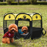 Dog Playpen Tent Crate Room Foldable Waterproof Outdoor Two Door Mesh Shade Cover Nest Kennel