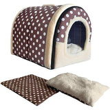Dog Keep Warm House Nest With Mat Foldable Removable Cover