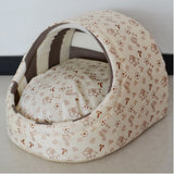Pet dog bed house cat nest dog house cat bed kennel pet bed warm princess bed dog beds for small dogs cat house washable