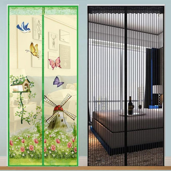 Anti mosquito magnet mesh door curtain: mosquito net & insect protection for doors with magnetic lock - Michael Far - Deals on Products for All