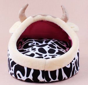 Open image in slideshow, Kennel Dog Soft Mat Fleece Warm Bed House