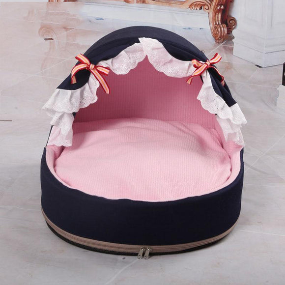 Comfortable Dog Puppy Bed Princess Soft Warm Winter House