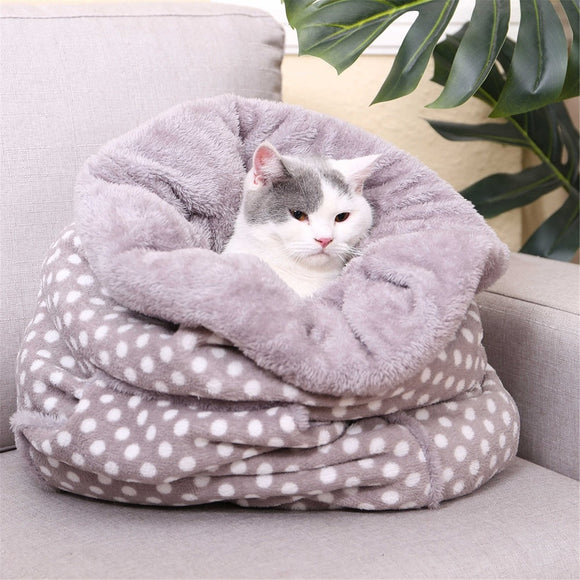 Dog Sleeping Bag Winter Warm Coral Fleece House