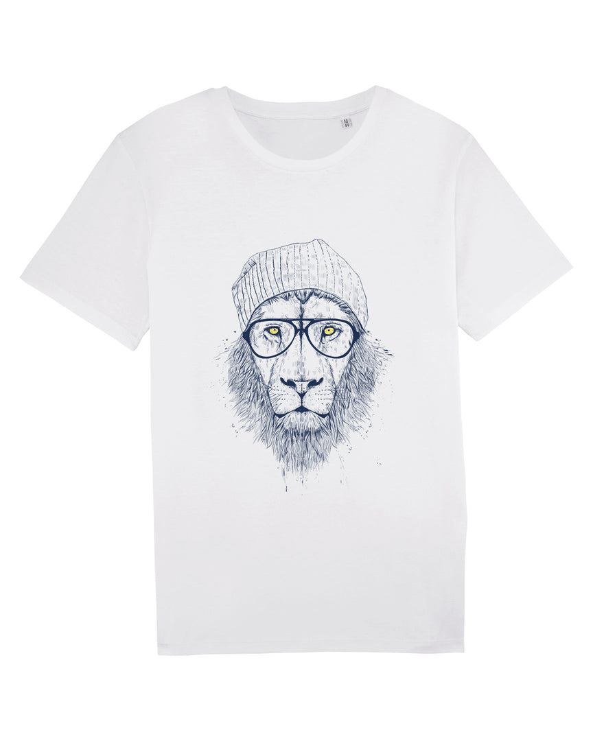 Hipster Lion - T-shirt Homme