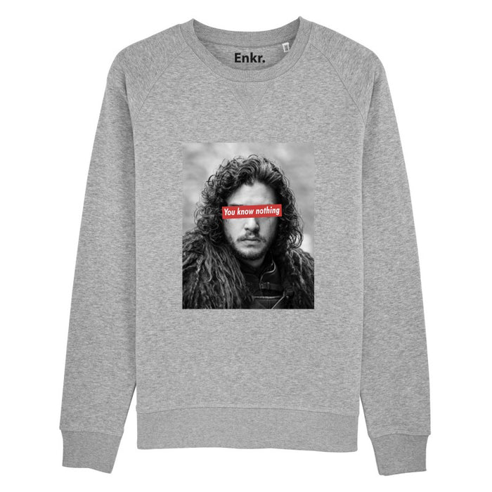 You know nothing - Sweat Homme