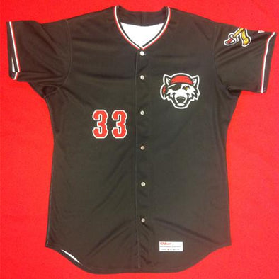 Erie SeaWolves Beau Burrows Black Game Used Autograph Jersey #33