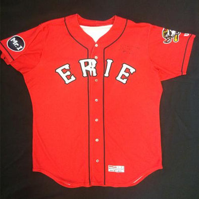 Erie SeaWolves Beau Burrows Red Alternate Game Used Autograph Jersey #33