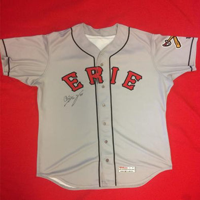 Erie SeaWolves Christin Stewart Gray Away Game Used Autograph Jersey #35