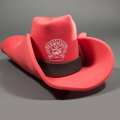 Erie SeaWolves Foam Cowboy Hat - Red
