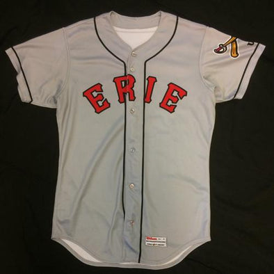 Erie SeaWolves Dawel Lugo Game Used Gray Jersey #12