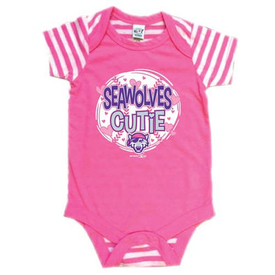 Erie SeaWolves Bimm Ridder Pink Infant Onesie