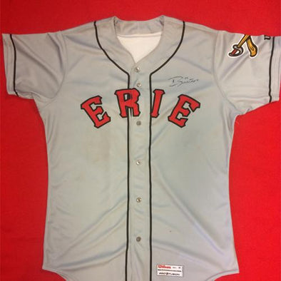 Erie SeaWolves Grayson Greiner Away Gray Game Used Autograph Jersey #21