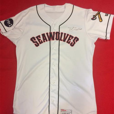 Erie SeaWolves Grayson Greiner Home White Game Used Autograph Jersey #21