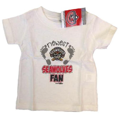 "Erie SeaWolves Infant White ""Newest"" Tee"