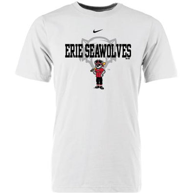 Erie SeaWolves Nike Youth White Mascot Tee