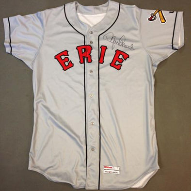 Erie SeaWolves 2016 Erie SeaWolves Autographed Game Worn Lance Parrish Gray Jersey #13