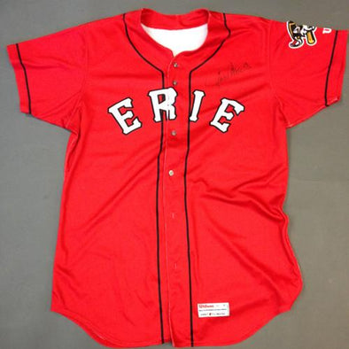 Erie SeaWolves 2016 Erie SeaWolves Autographed Game Worn Lance Parrish Red Jersey #13