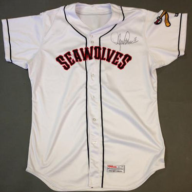 Erie SeaWolves 2016 Erie SeaWolves Autographed Game Worn Lance Parrish White Jersey #13