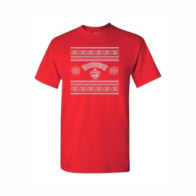 Erie SeaWolves Red Christmas Sweater Tee
