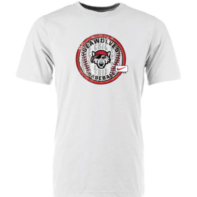 "Erie SeaWolves Nike White ""Circle Baseball"" Tee"