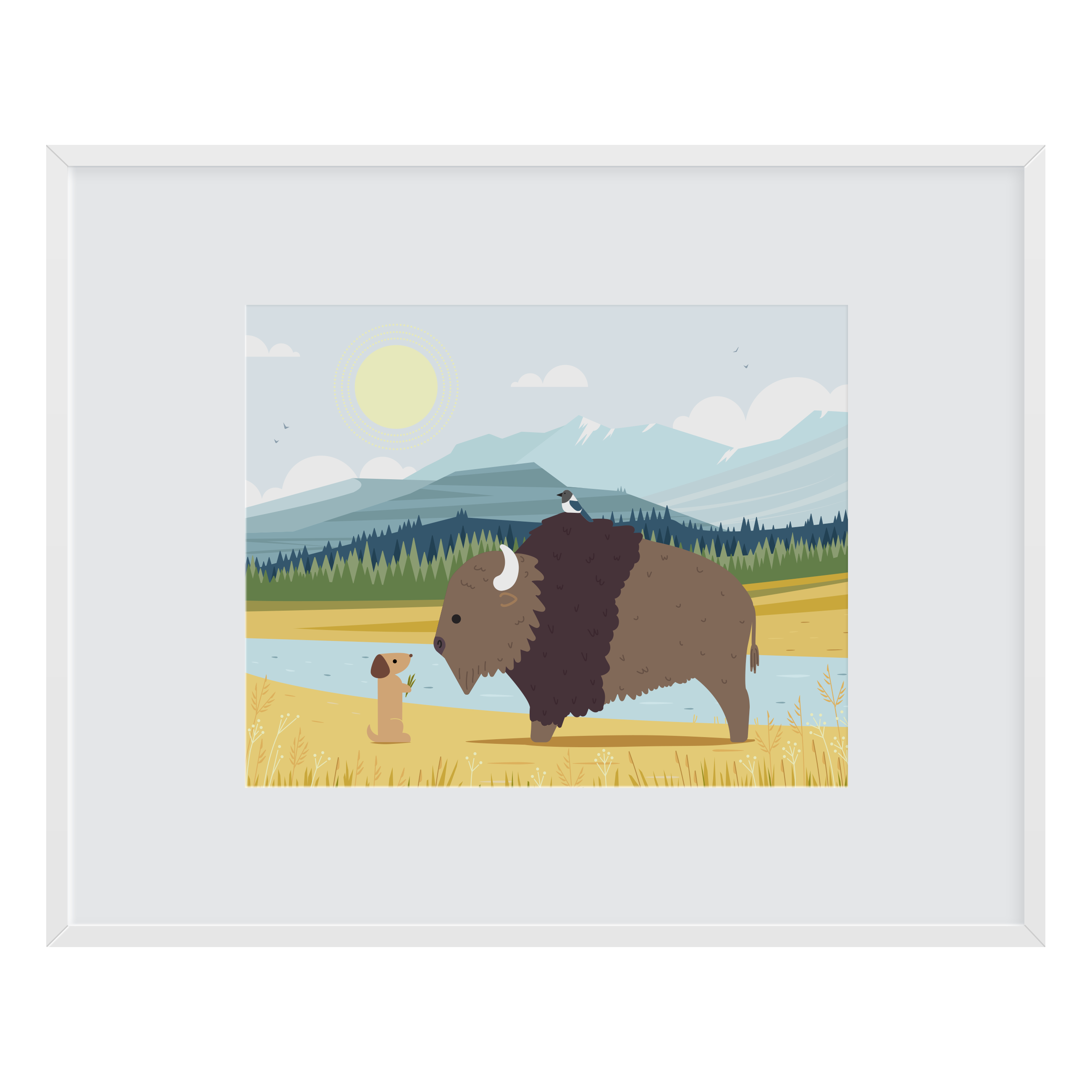Bison Friend Art Print