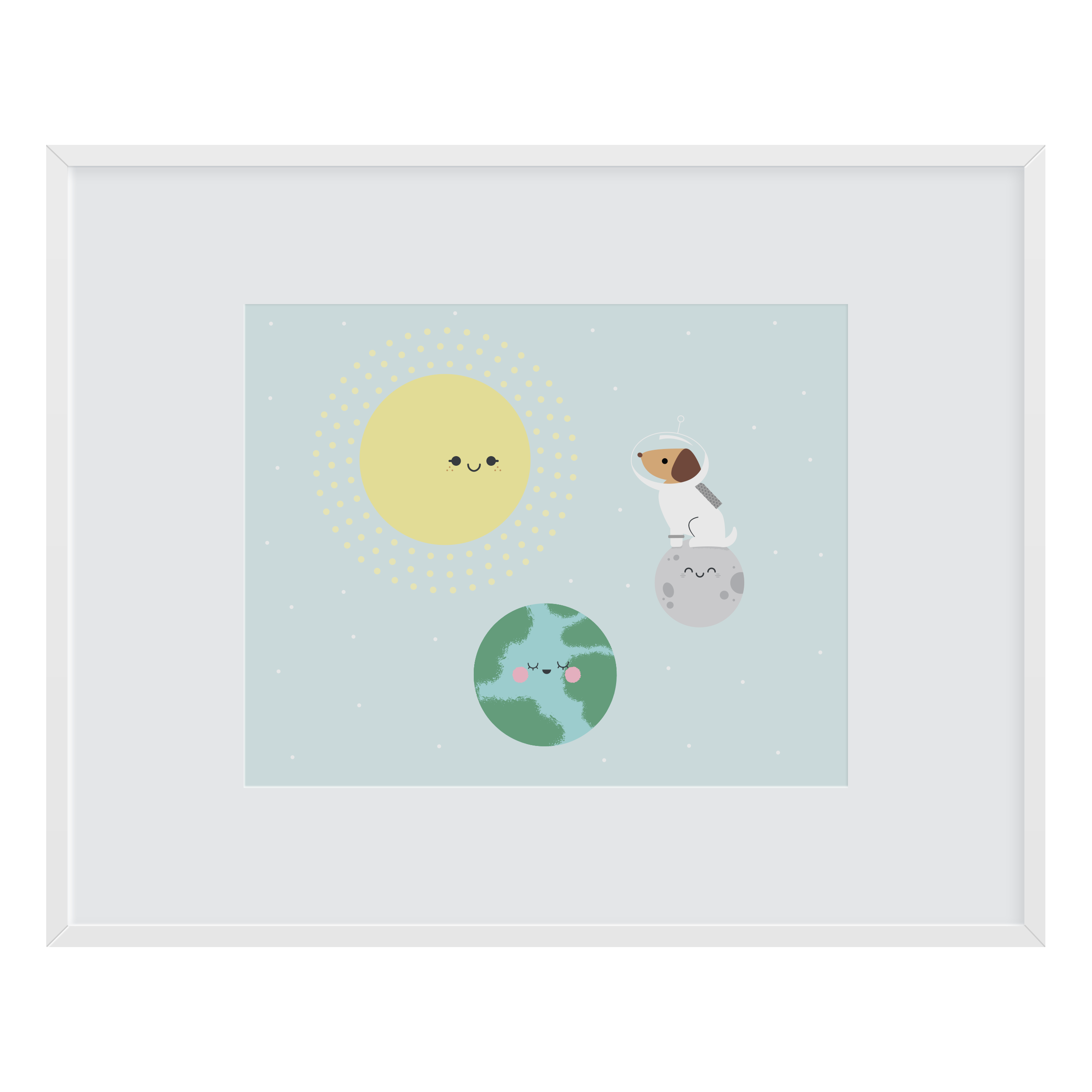 Orbit Friends Art Print
