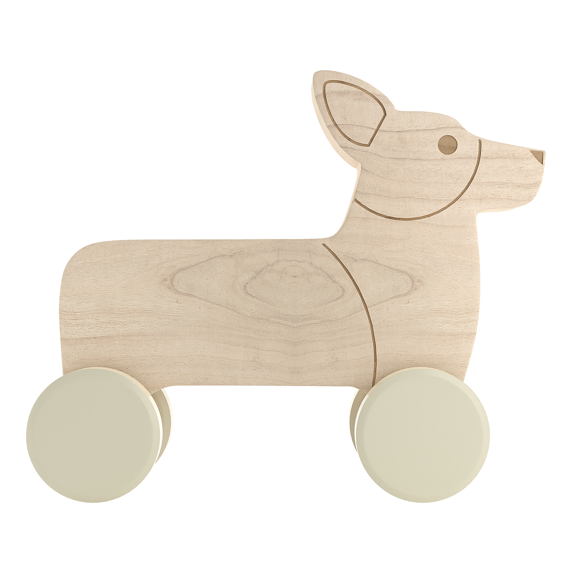 Corgi Push Toy