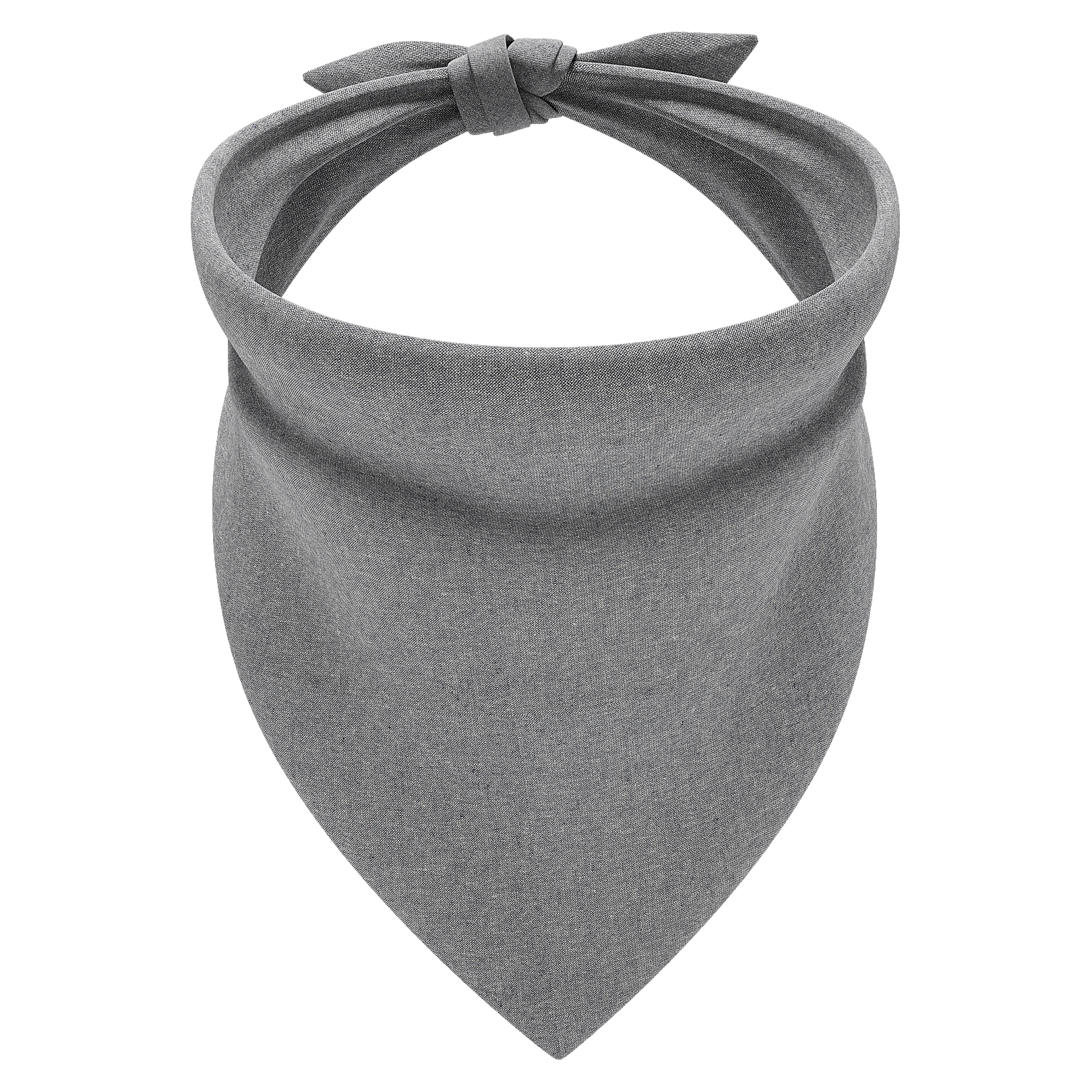 Linen Graphite Dog Bandana