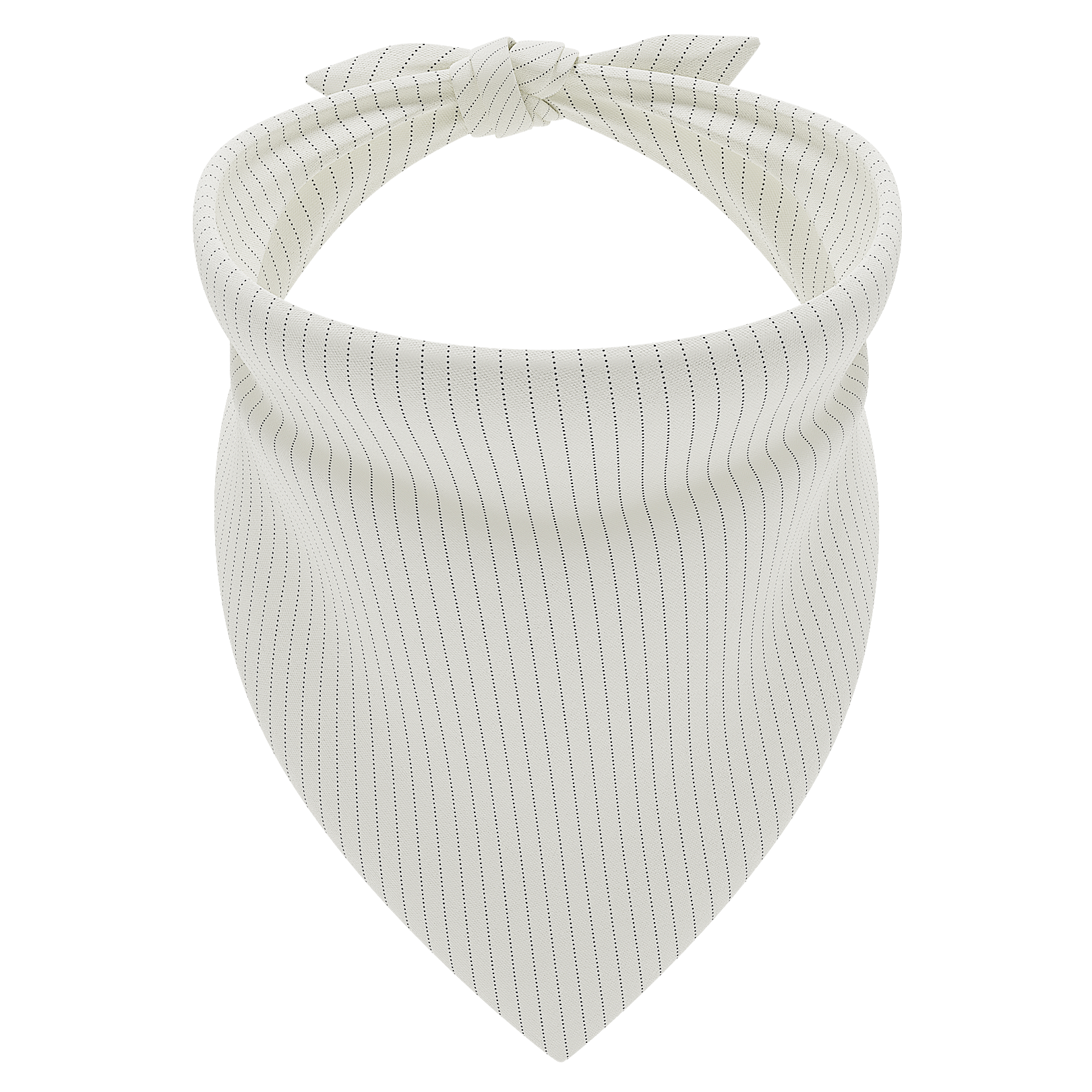 Pinstripe Cream Dog Bandana