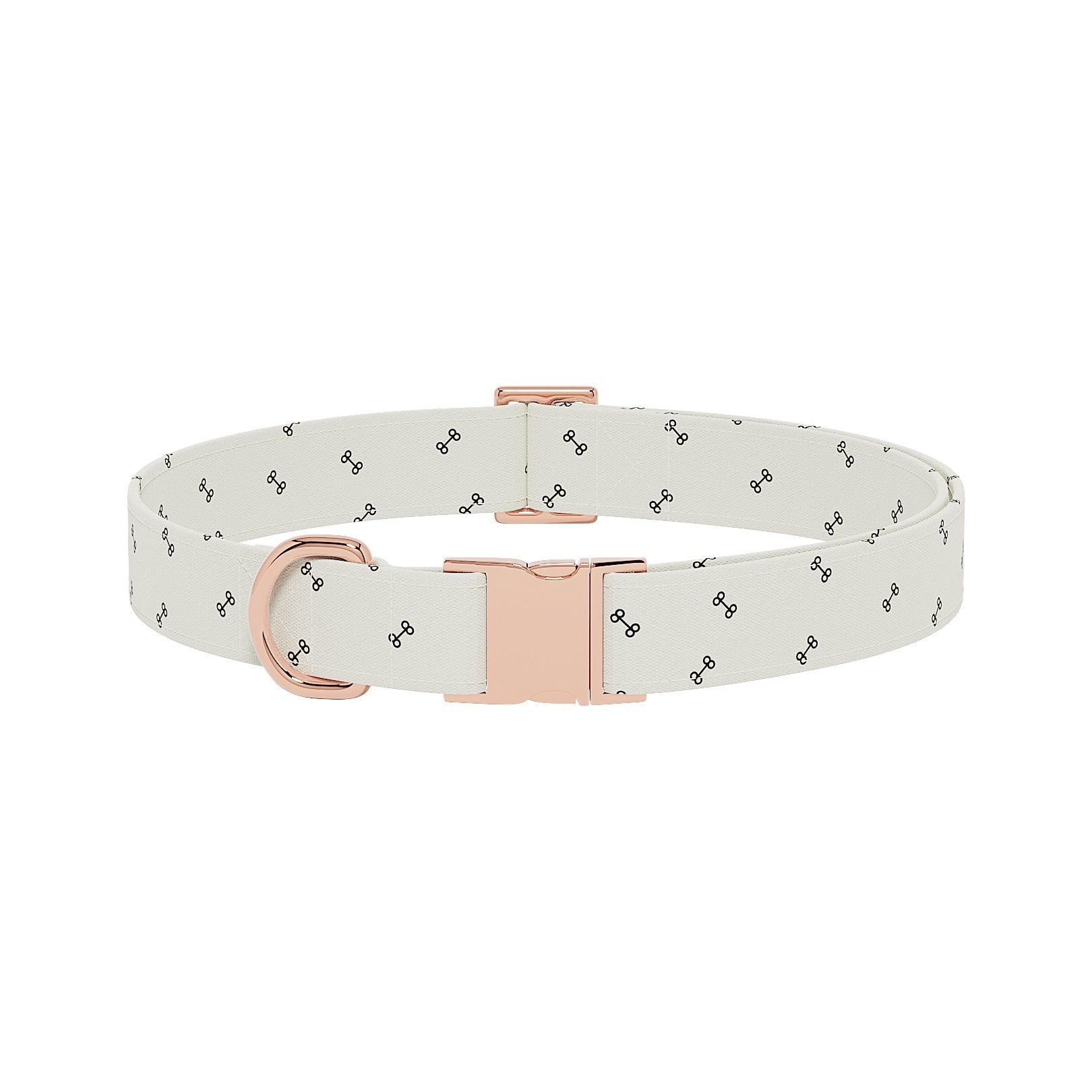 Bones Cream Dog Collar
