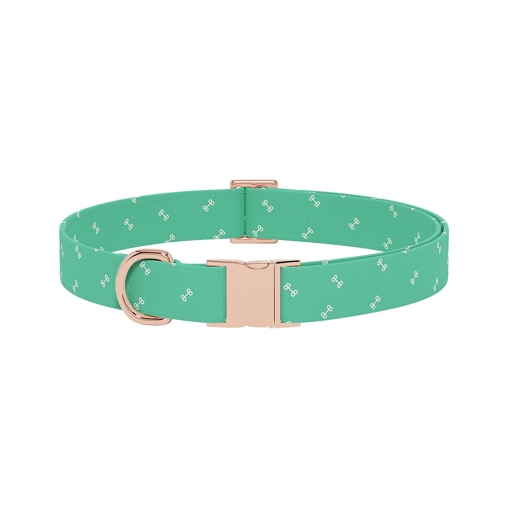 Bones Green Dog Collar
