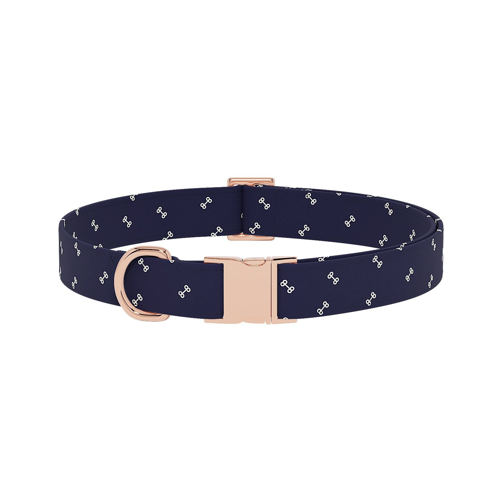Bones Navy Dog Collar