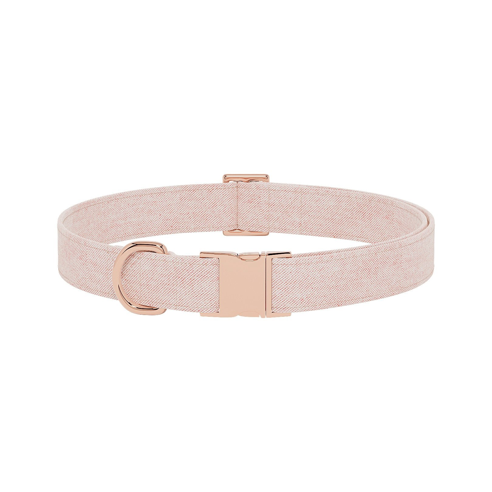 Flannel Peach Dog Collar