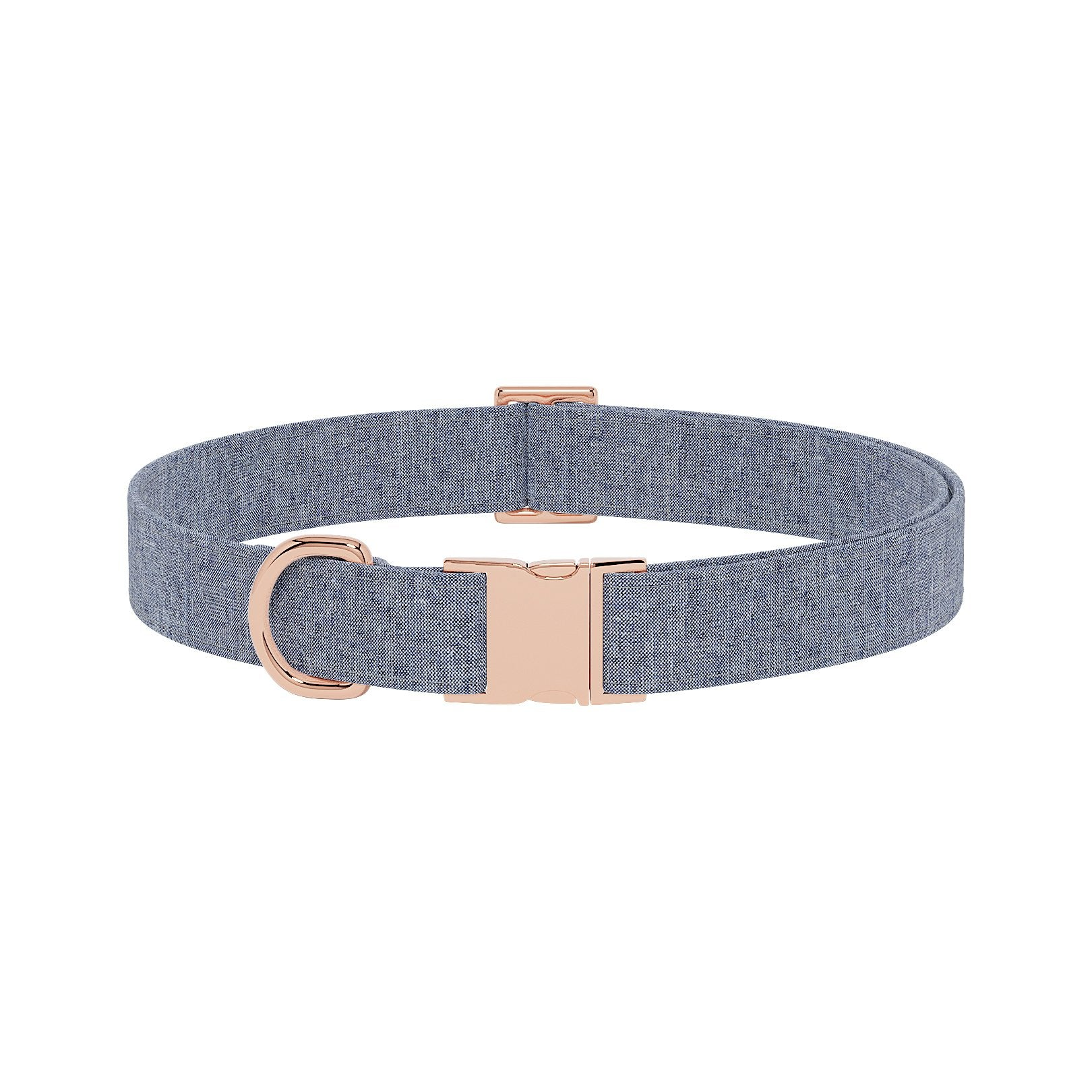 Linen Denim Dog Collar