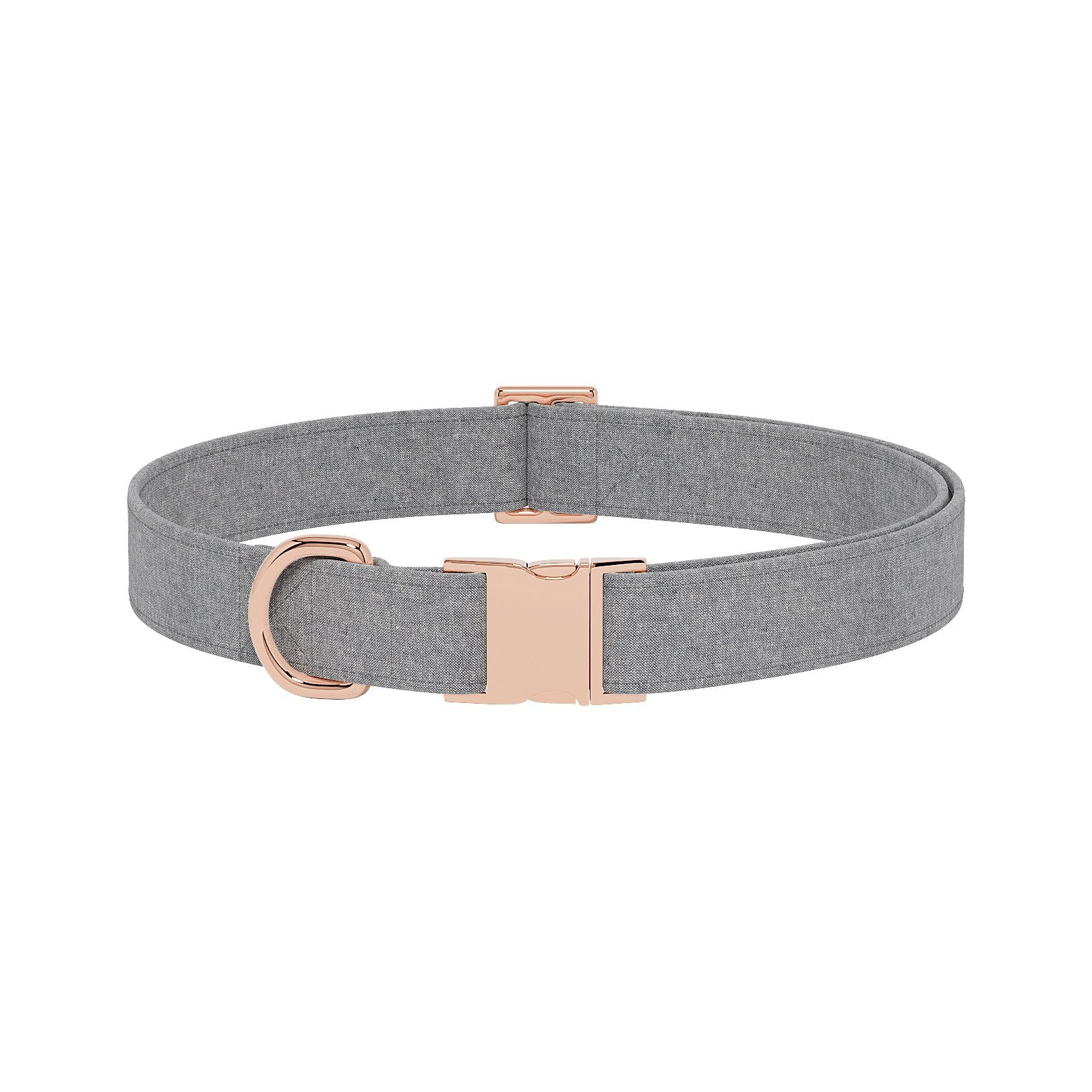 Linen Graphite Dog Collar