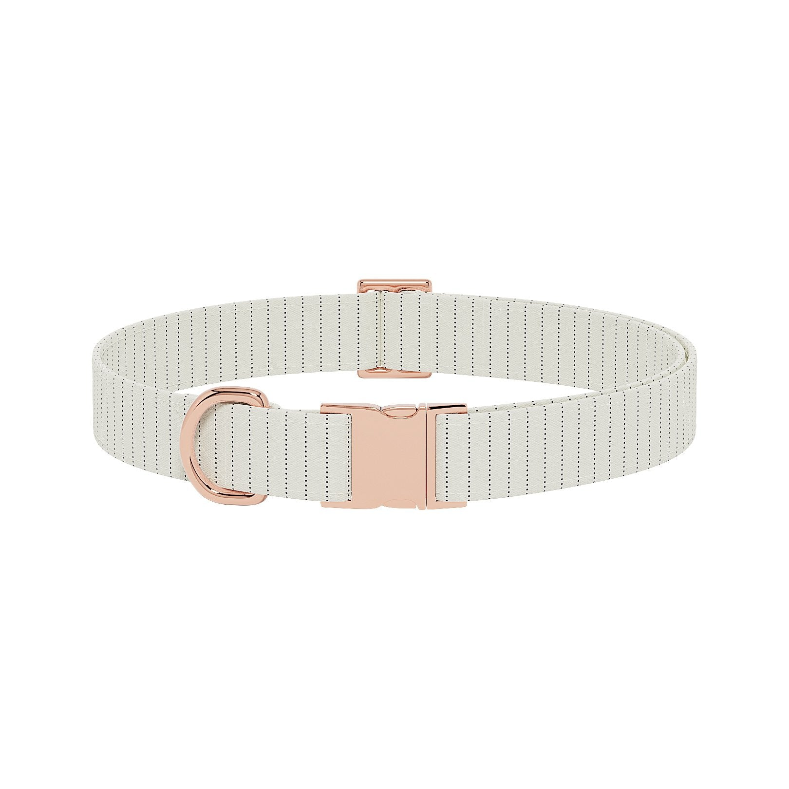 Pinstripe Cream Dog Collar
