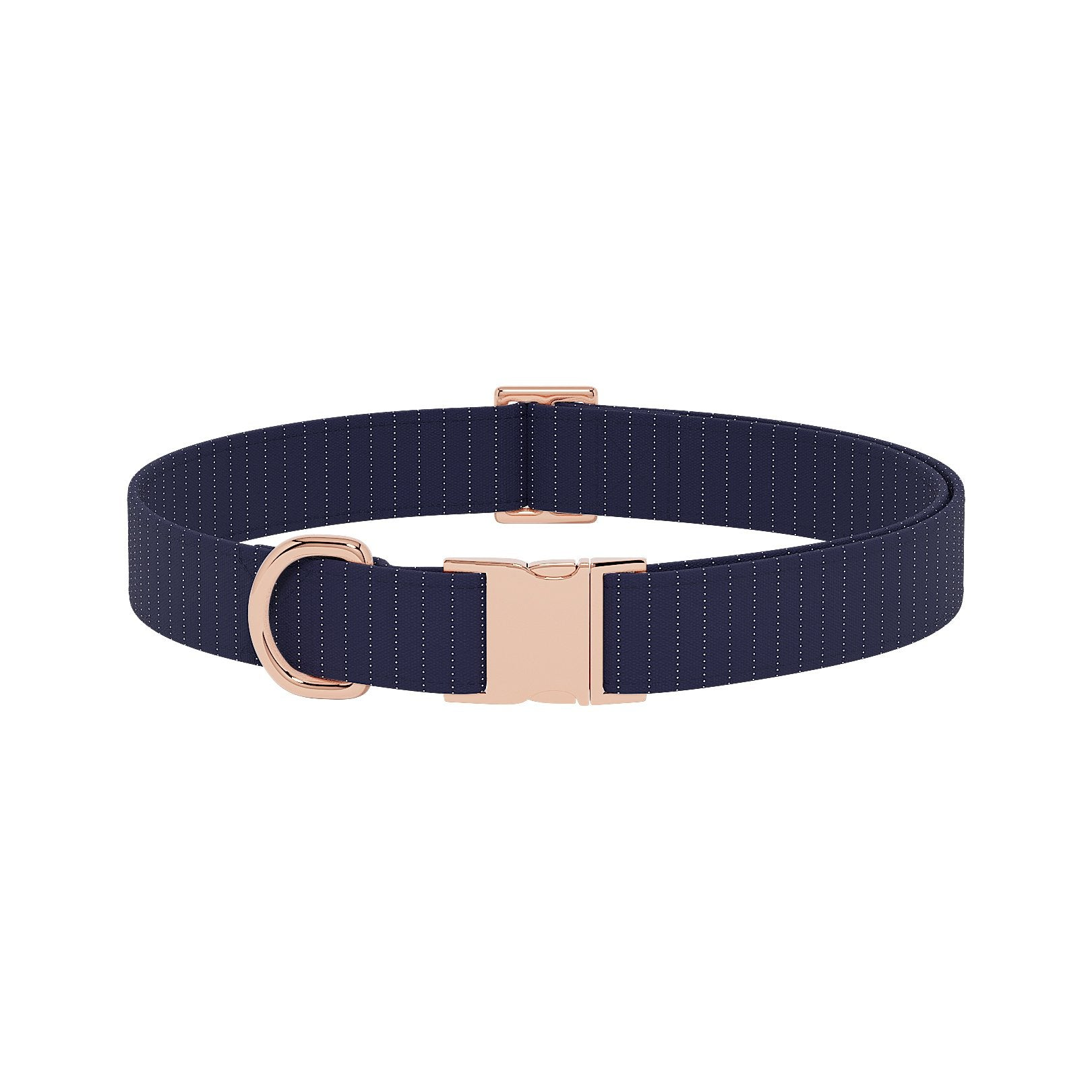 Pinstripe Navy Dog Collar