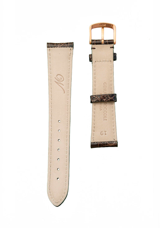 CROCODILE STRAP - DARK BROWN