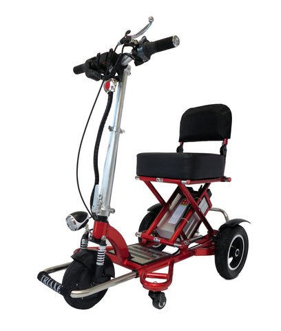3 wheel mobility scooters - triaxe cruze folding travel scooter