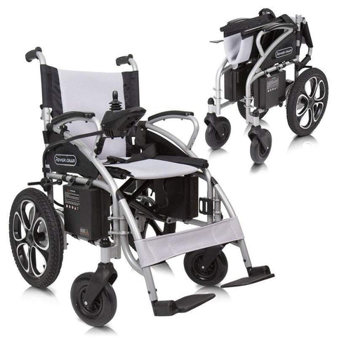 Vive Health Folding Compact wheelchair - open and folded
