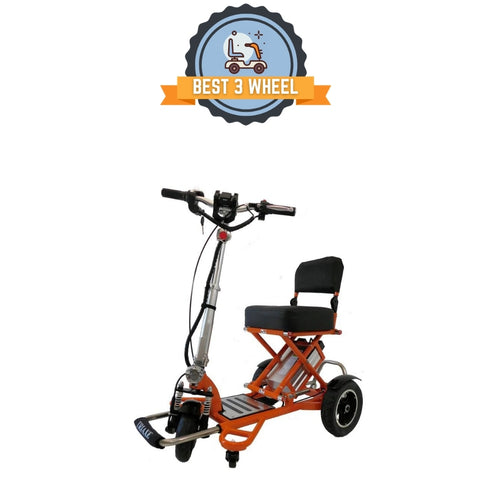 Best 3 wheel mobility scooter - Triaxe Cruze foldable travel scooter