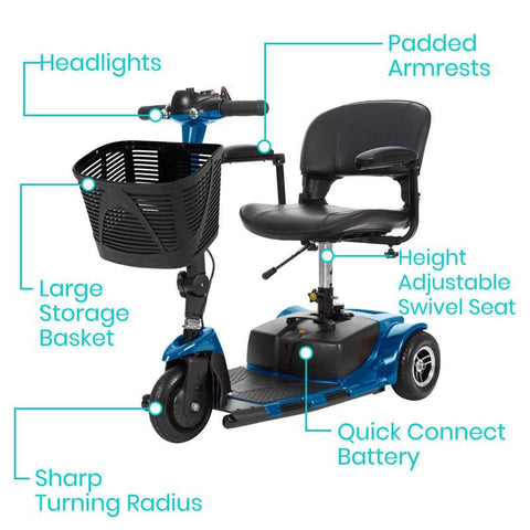 Vive Health scooters - 3 wheel portable scooter
