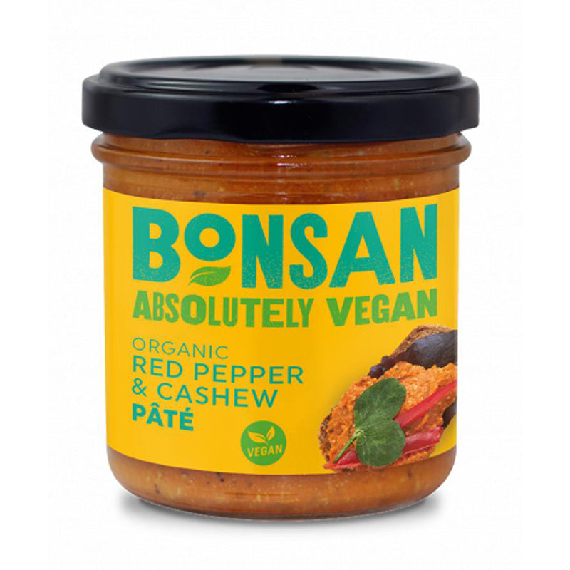 Bonsan Red Pepper & Cashew Pate 130g