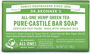 Dr Bronner Green Tea Soap 140g