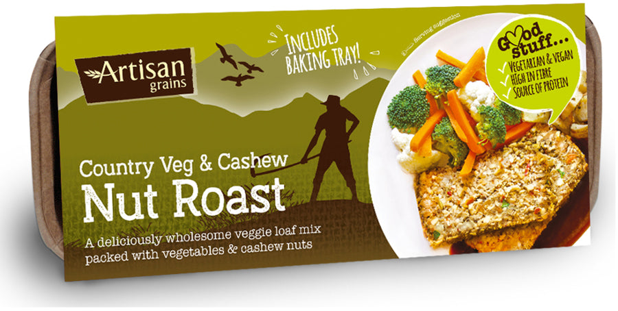 Artisan Grains Veg & Cashew Nut Roast 200g