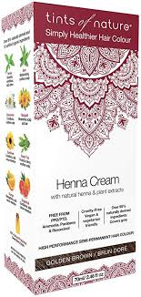 Tints Of Nature Henna Cream Shade Golden Brown 70ml
