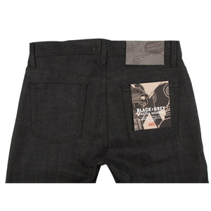 Naked & Famous Weird Guy Fit Denim - Black x Grey Stretch Selvedge