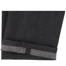 Load image into Gallery viewer, Naked & Famous Weird Guy Fit Denim - Black x Grey Stretch Selvedge