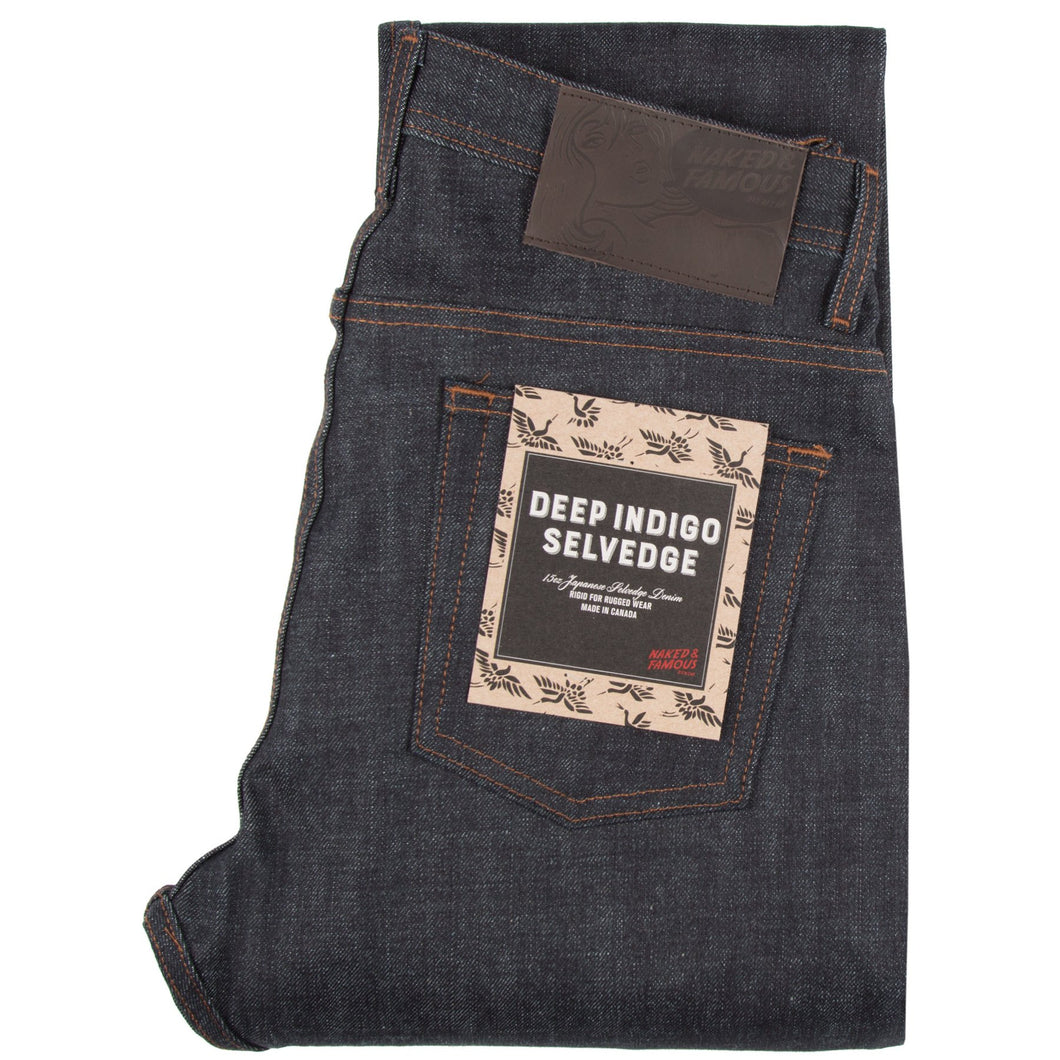 Naked & Famous Weird Guy Fit Denim - Deep Indigo Selvedge